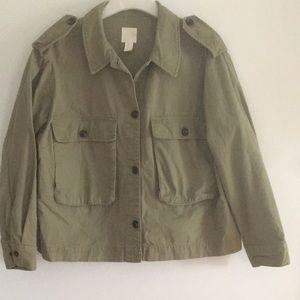 H&M Army/Utility Cargo Cotton Jacket L